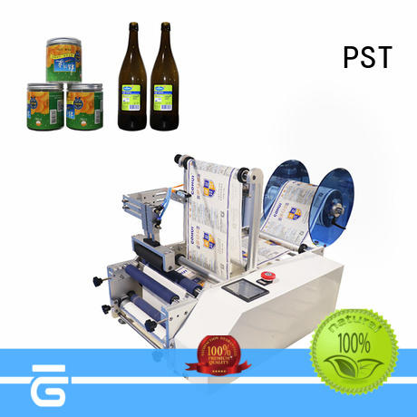 PST semi automatic bottle labeler company for round bottles