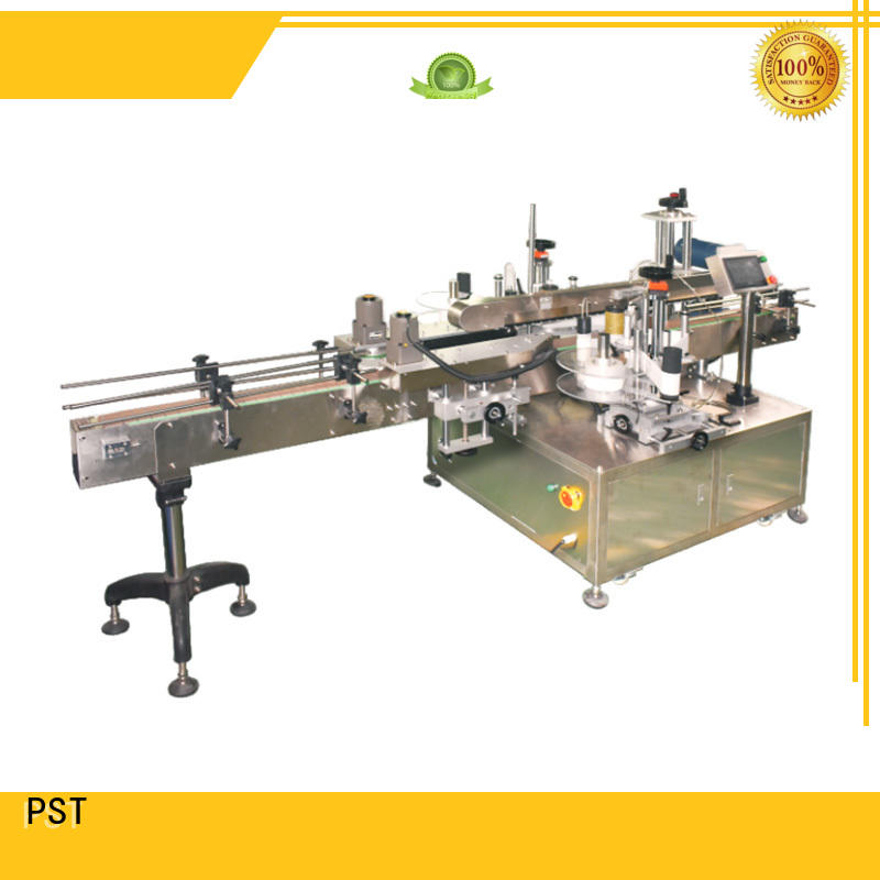 PST double side labeling machine manufacturer for square bottles
