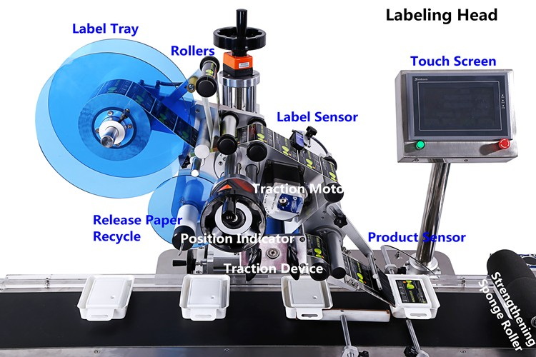 PST top automatic flat labeling machine supplier for bags-2