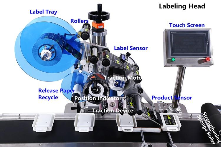 PST semi automatic automatic labeling machine high end for square bottles