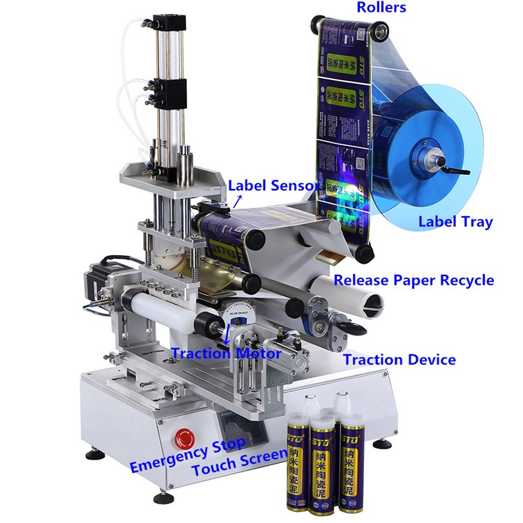 high speed flat labeling machine manufacturer for round bottles-1