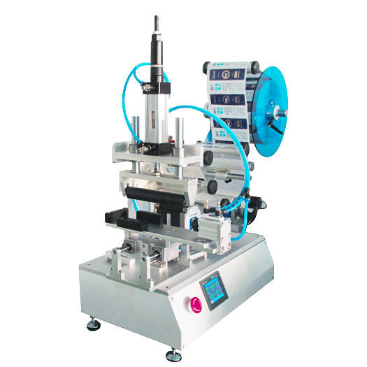How to attach the label to daily chemical products with semi-automatic labeling machine?