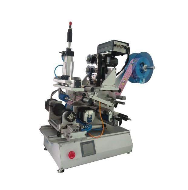 PST416 Semi-Automatic Rolling Paste + Motor Rotary Labeling