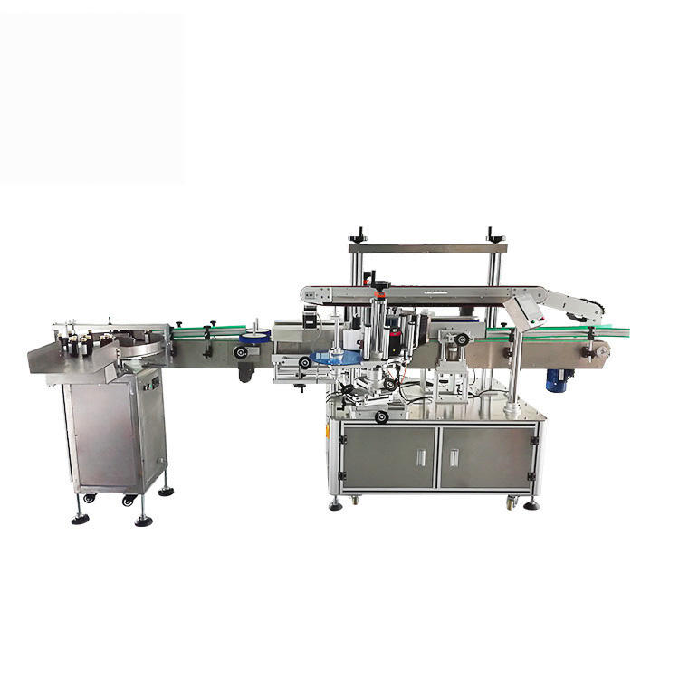 Factory Price Automatic Machine Double Side Labeling for Flat/Round/Square Bottle with Optional Bottle-Arranging Machine