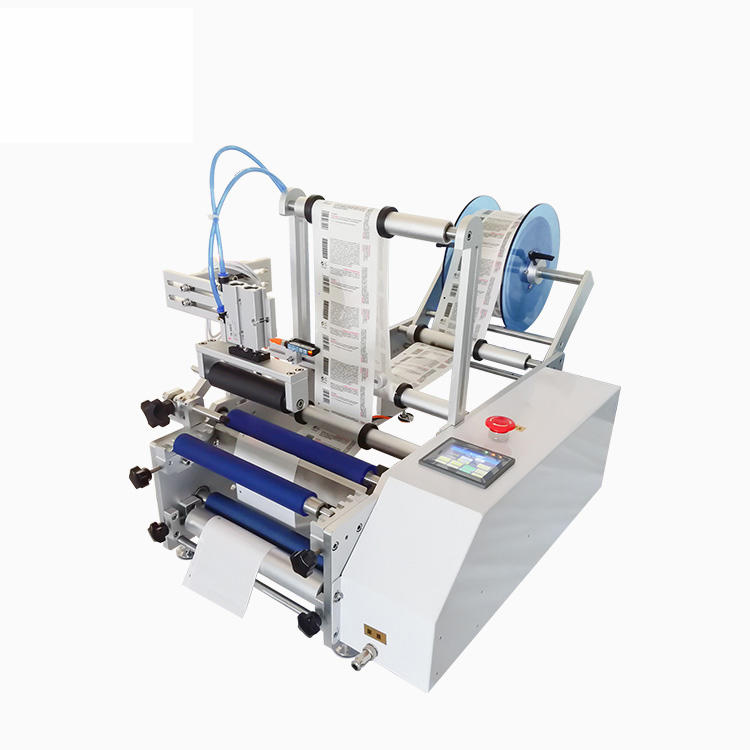 Semi Automatic Cylinder Top Round Bottle Sticker Labeling Packaging Machine (PST-C12)