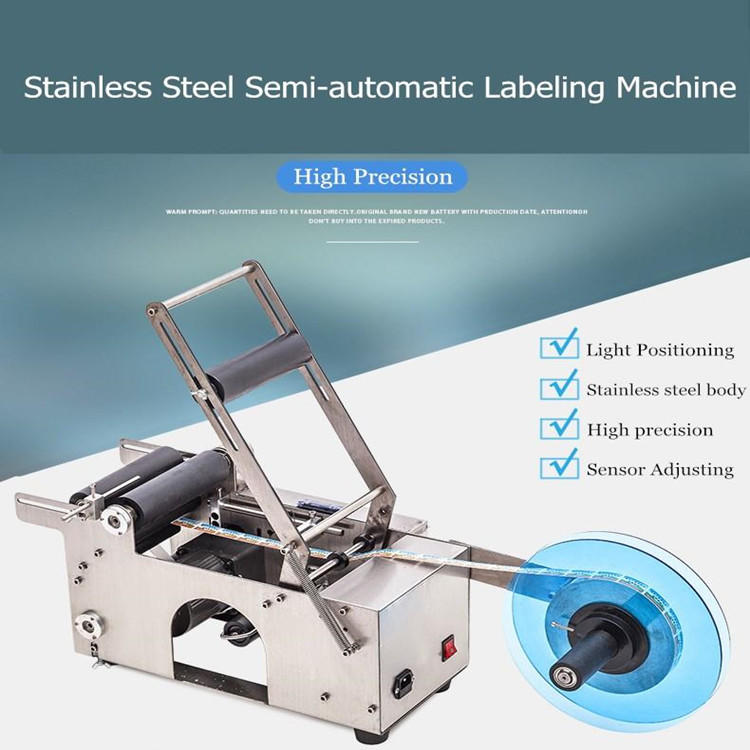 Semi Automatic Round Bottle Labeling Machine for Packing Products (PST-M50)