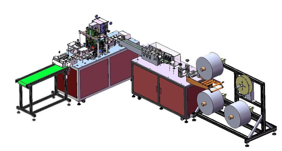 New upgraded High Speed 1+1 Full Automatic Flat Disposal Face Mask Machine