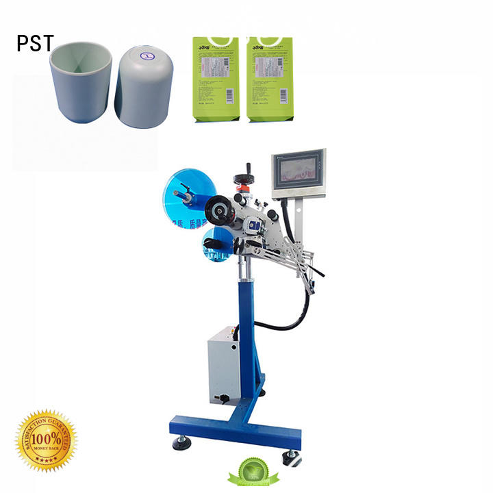 PST label applicator machines for busniess for flat bottles