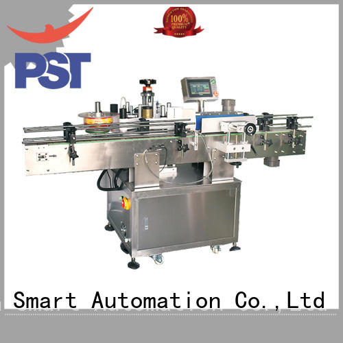 PST fully automatic bottle labeling machine supply for flat bottles