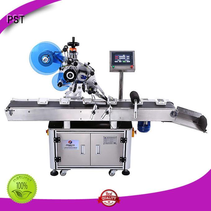 PST poly flat surface labeling machine labeling box