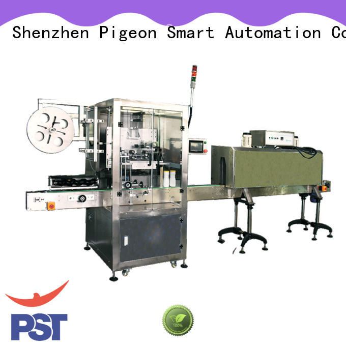 conveyor type automatic label applicator shrink labeling equipment for cards