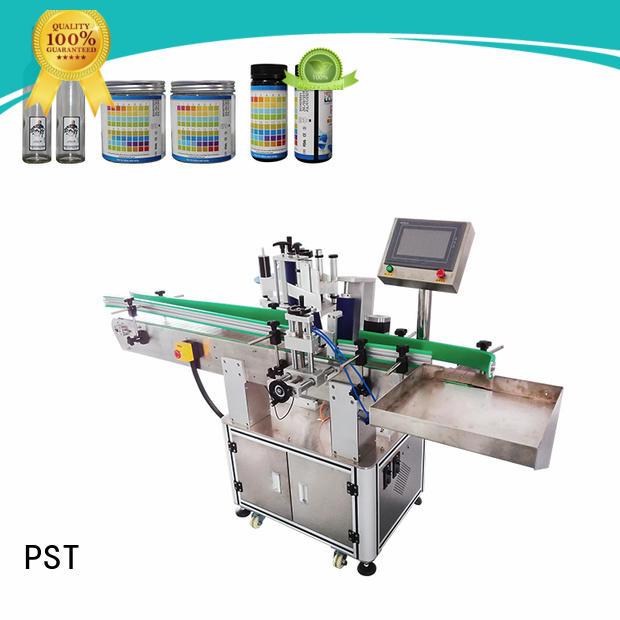 PST latest label applicator machines bucket for flat bottles
