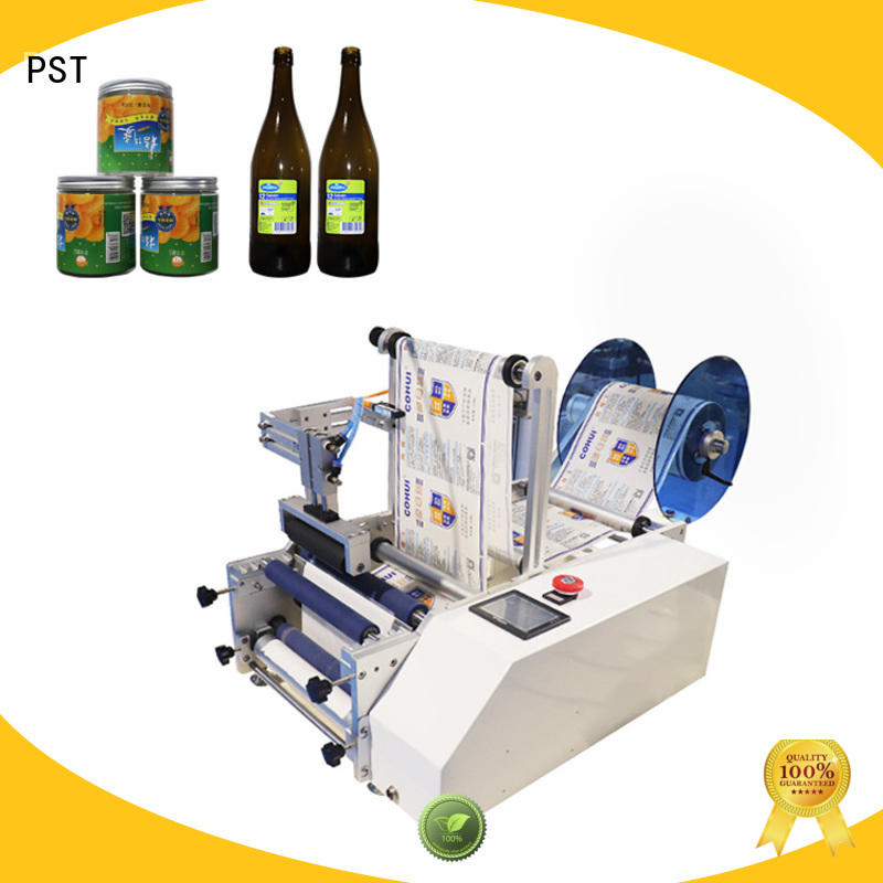 PST hot sale semi automatic round bottle labeling machine for busniess for industry