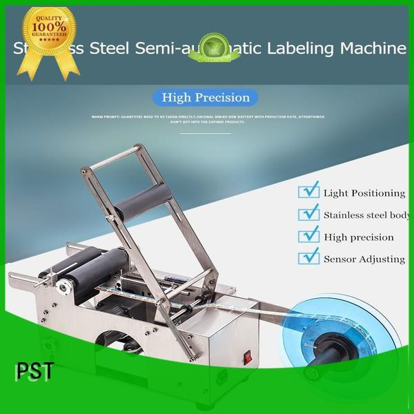 PST semi automatic labeling machine with label sensor for cards