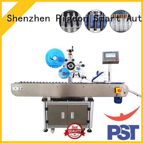 PST top automatic label applicator supplier for flat bottles