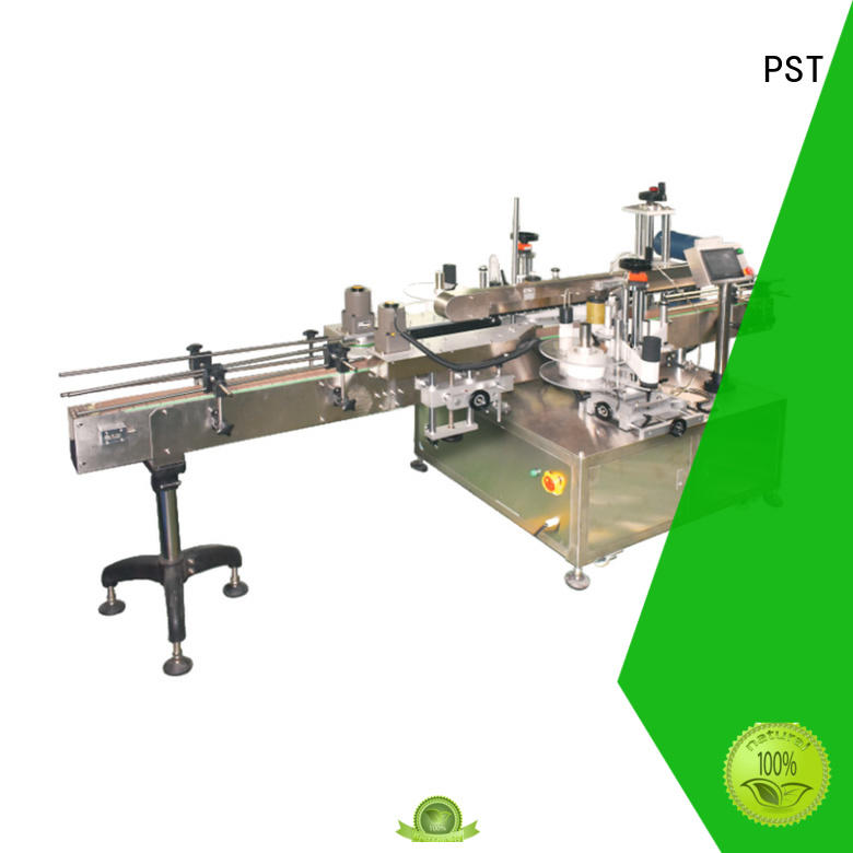 PST double side labeling machine manufacturer for flat bottles