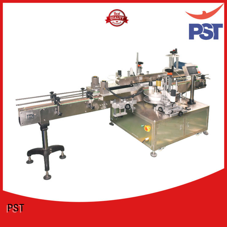 PST double side labeling machine company for round bottles