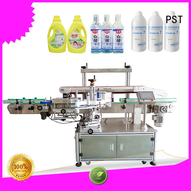 PST semi automatic labeling machine for busniess for square bottles