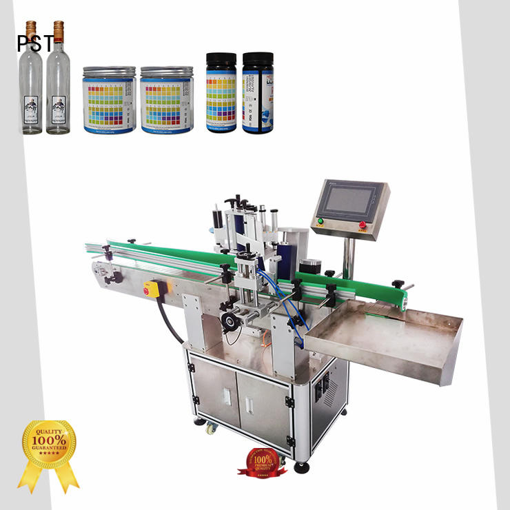 PST automatic label applicator with label sensor for square bottles