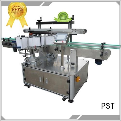 PST new double side labeling machine factory price for square bottle