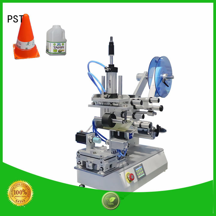 PST flat labeling machine manufacturer for cards