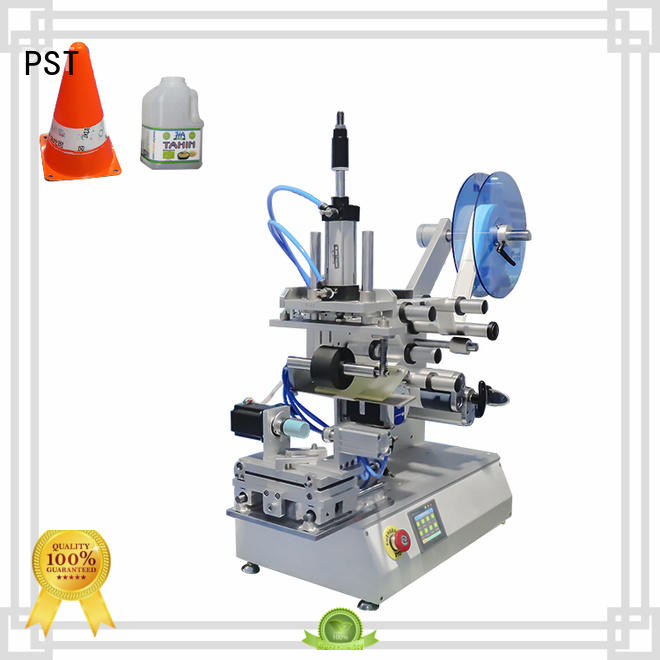 PST semi automatic flat labeling machine wholesale for square bottles