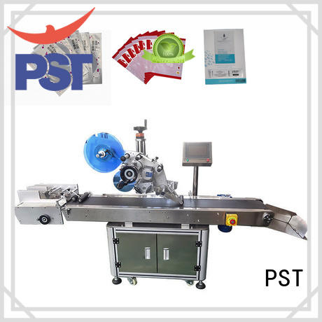 PST flat labeling machine manufacturer for square bottles