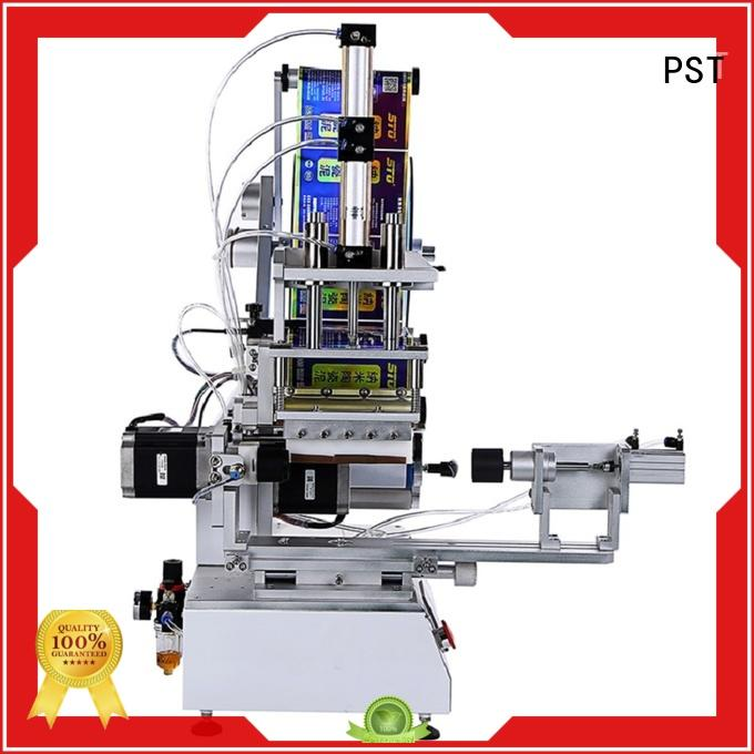 PST custom semi automatic flat labeling machine manufacturer for square bottles