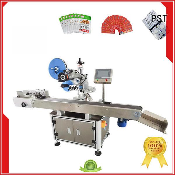 PST labeling equipment supplier for flat bottles