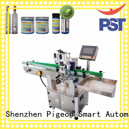 PST around automatic label applicator machine design for square bottles
