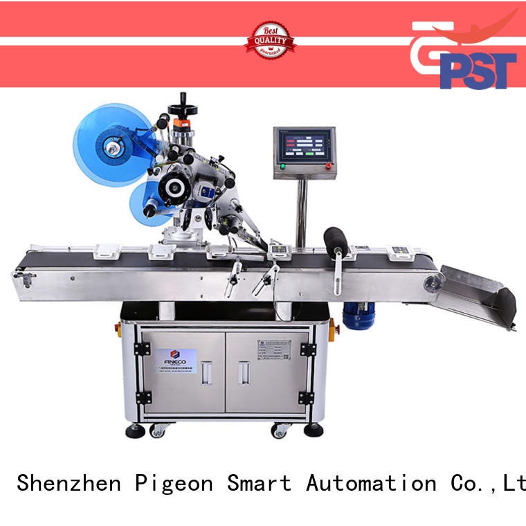 PST head flat surface labeling machine excellent for round bottles