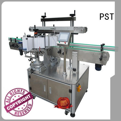 PST smart system semi automatic labeling machine supplier for flat bottles