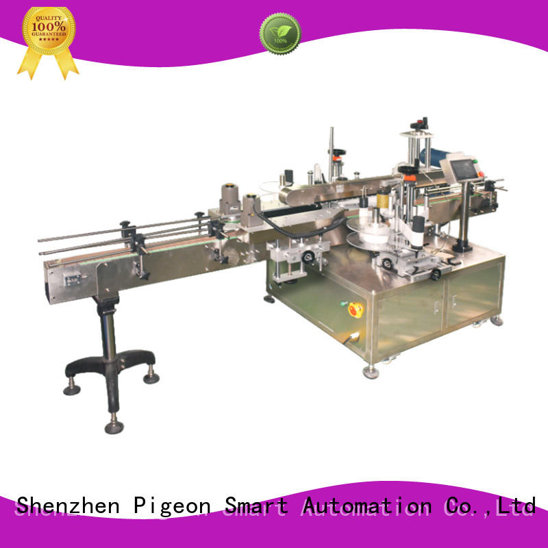 Side labeling Machine manufacturer for flat bottles PST