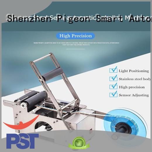 PST corner label machine manufacturer for flat bottles