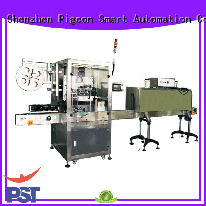 PST horizontal bottles labeling machine manufacturer for square bottles