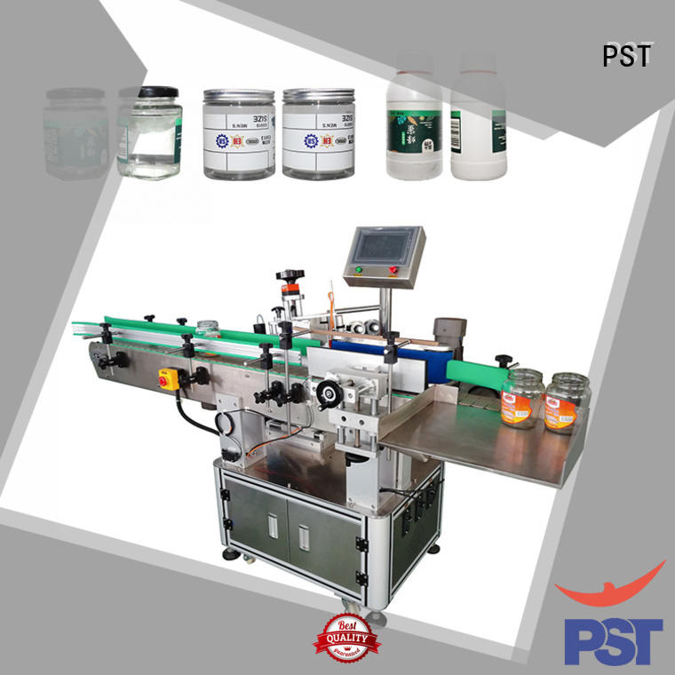 semi automatic sticker labelling machine supply for flat bottles