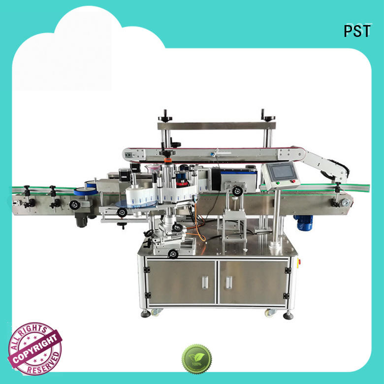 custom double side sticker labeling machine supply for round bottles