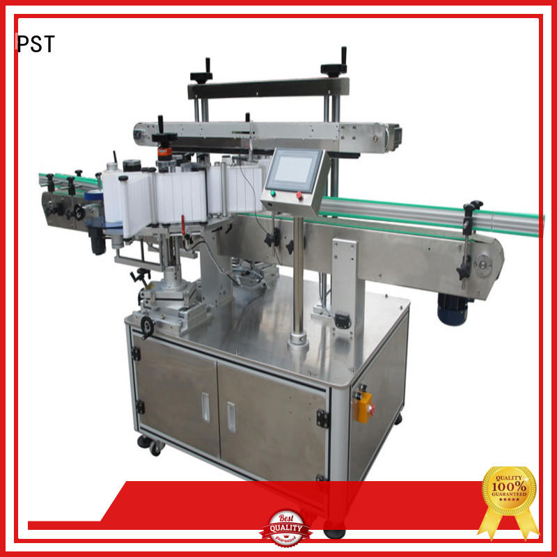 PST semi automatic Side labeling Machine supplier for round bottles