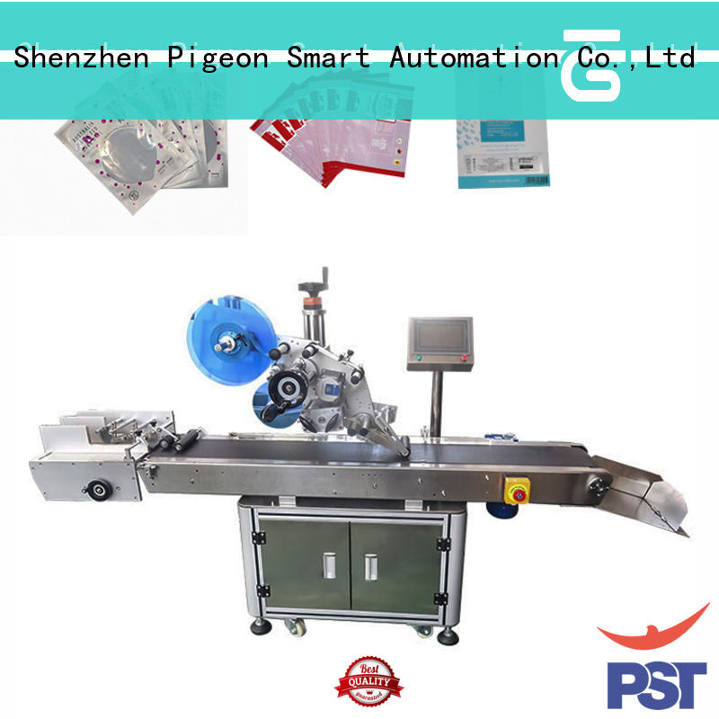 PST semi automatic flat labeling machine supplier for flat bottles