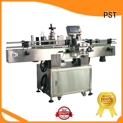 round bottle labeling machine manufacturer for flat bottles PST