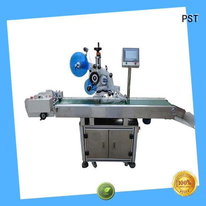 PST professional automatic flat labeling machine factory price for bags