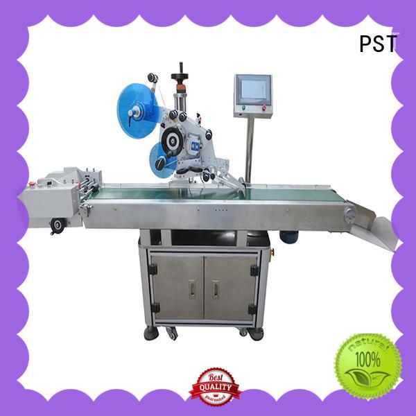 PST flat labeling machine supplier for round bottles