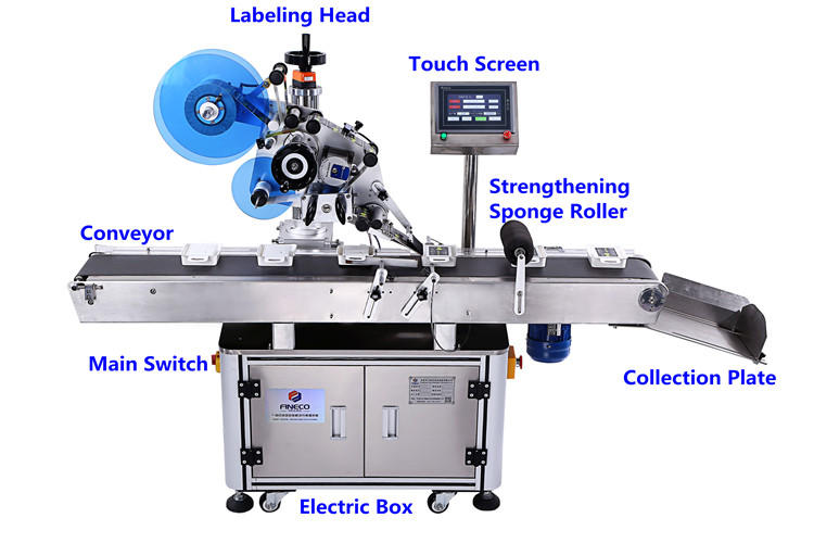 custom automatic flat labeling machine for busniess for box-1