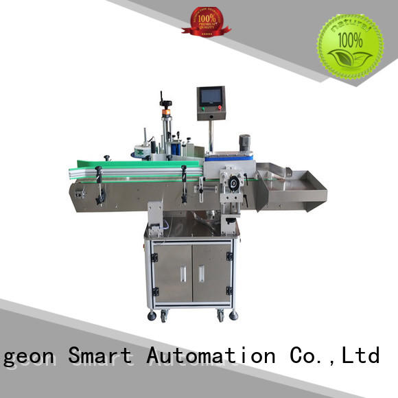 PST semi automatic round bottle labeling machine efficient for square bottles