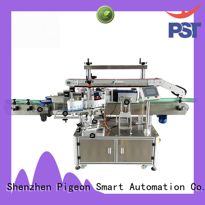 semi automatic double side sticker labeling machine supplier for round bottles