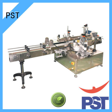 PST double side sticker labeling machine for busniess for boxes