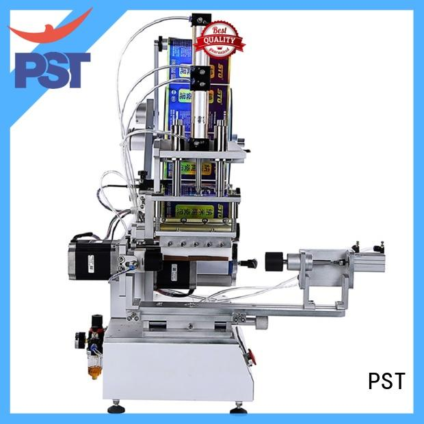 PST high speed semi automatic flat labeling machine fast delivery for square bottles