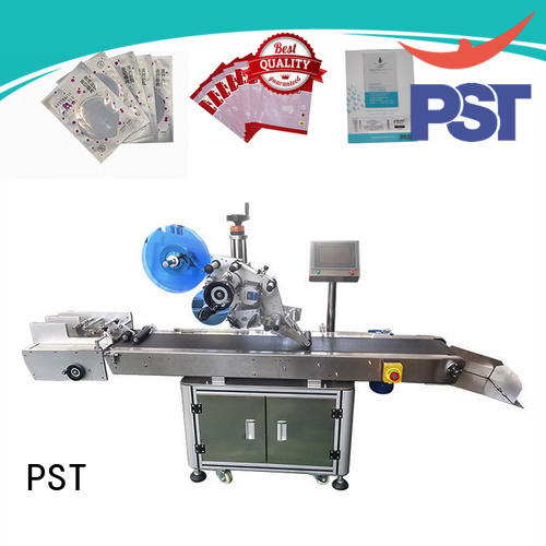 PST flat labeling machine for busniess for round bottles