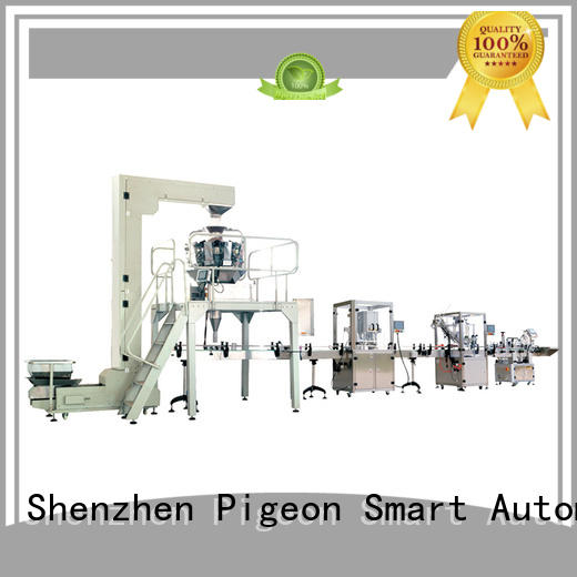 PST top labeling production line factory for industry