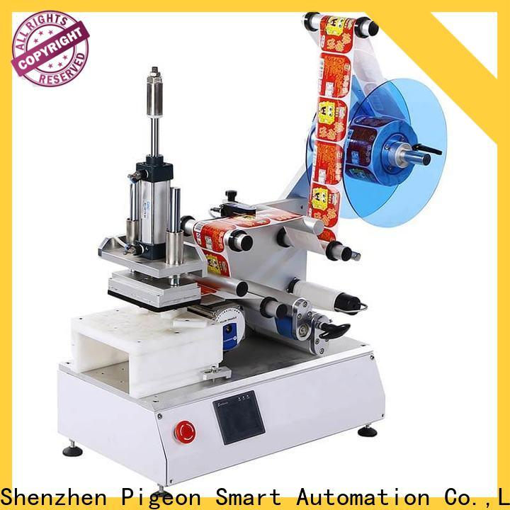 new semi automatic flat labeling machine supply for square bottles